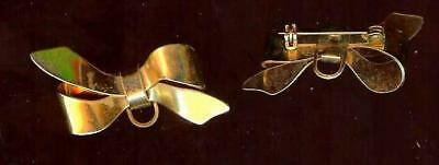 1 ( ONE ) Vintage figural BOW pin brooch  ( COSTUME JEWELRY )