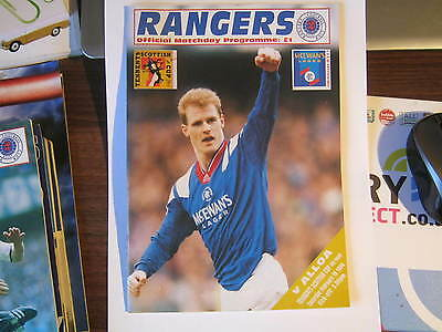 Rangers  v Alloa  Scottish Cup 4th Rd Match Programme 1994 (C)