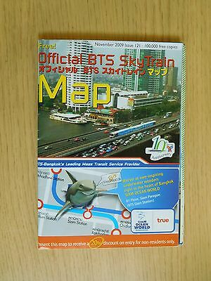 3x Different BTS SkyTrain Official Route Maps, Bangkok, Thailand