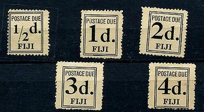 HERRICKSTAMP FIJI Sc.# J2-6 1917 Dues, Issued without Gum