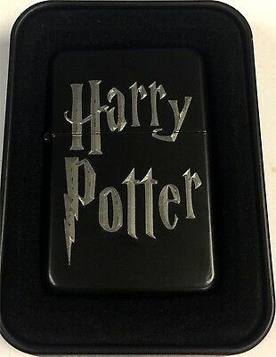 Harry Potter Logo Black Engraved Cigarette Lighter LEN-0193