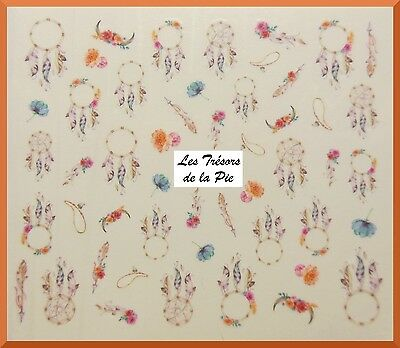 STICKERS ONGLES WATER DECAL (x49) - Nail art - Dreamcatchers - Multicolore