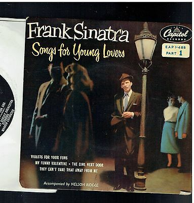 Frank Sinatra Songs For Young Lovers Ep Pt 1 My Funny Valentine Capitol Eap1-488