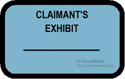 CLAIMANTS EXHIBIT Labels Stickers Blue  492 per pack