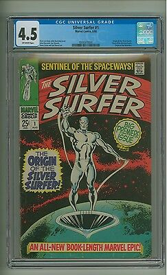 Silver Surfer #1 (CGC 4.5) O/W pages; Origin by Buscema; Marvel; 1968 (c#12825)