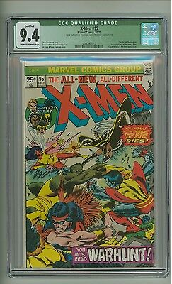 "X-Men 95 (CGC 9.4 QUALIFIED) INCOMPLETE; OW/W p; ""Death"" of Thunderbird (c#12829"