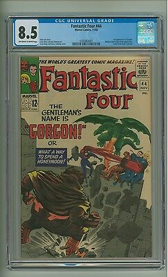 Fantastic Four 44 (CGC 8.5) OW/W pages; 1st app. Gorgon; Kirby; 1965 (c#12800)