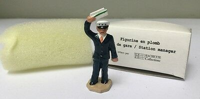 Figurine en Plomb Chef de Gare Station Manager - Hornby Hachette Ech. O - Neuf