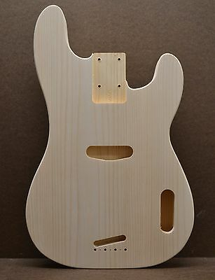 Custom Order Pb Unfinished White Pine Guitar Body Fits Precision Bass Neck