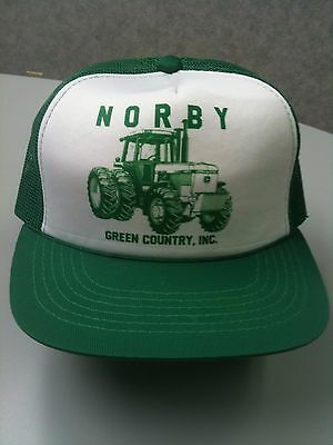Rare Vintage NORBY GREEN COUNTRY, INC. HAT/CAP New John Deere Mesh Adjustable