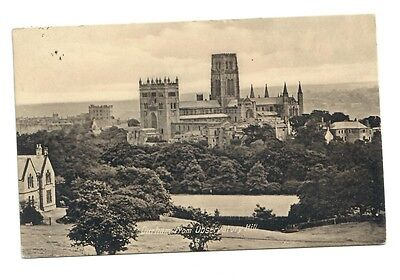 Old Postcard, DURHAM from Observatory Hill, posted 1911, A. Bailes, 50 Sadler St