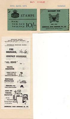 April 1961 10/- Exploded Booklet, No Stamps. See Scans