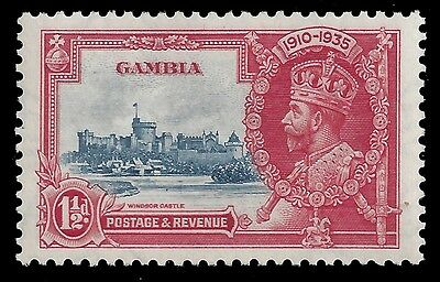 Gambia Stamp 1935 1 1/2d Jubilee Dash Plate Variety (SG143var) MNH