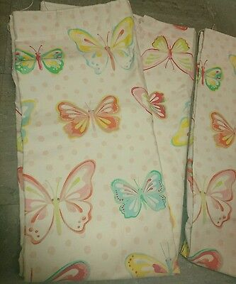 """Gorgeous NEXT Butterfly Curtains Lined 24""""X 54"""" NEW but small spots on hem 99p!!"""