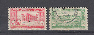Two very nice old Lebanese 1944 issues
