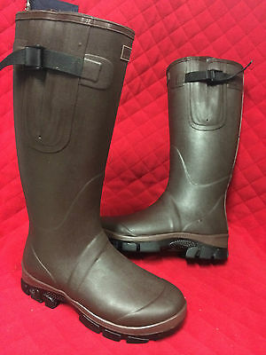 New Size 4 Chocolat Quality Neoprene Line Wellington Boots Unisex Riding Wellies