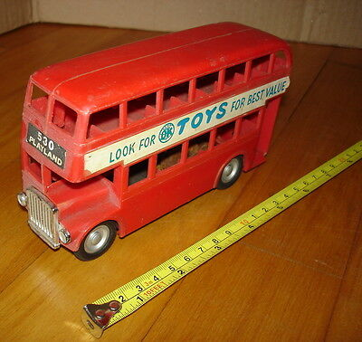 OK Toys. London bus plastic friction model c.1960s. Made in Hong Kong