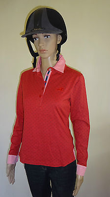 New** Tottie Valerie ** Ladies Polo Top Horse Riding Shirt Ladies Size 8 Xsmall