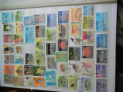A nice selection of  Singapore stamps