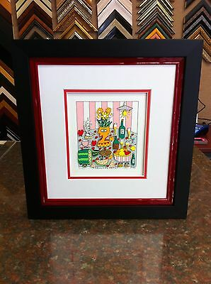 """James Rizzi 3-D """" Fabulous Feast  """" Signed & Numbered Custom Framed"""