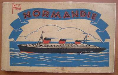 NORMANDIE (French) RARE Set of INTERIORS / EXPERIORS  Seldom Seen