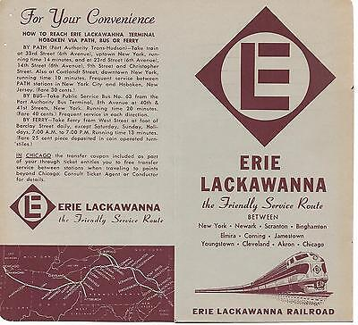 Erie Lackawanna Railroad ticket envelopes (6) UNUSED  EL ~ FREE SHIPPING