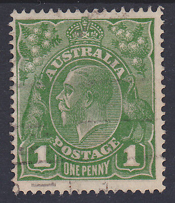 237) AUSTRALIA 1924 - 1 Penny KING GEORGE V - USED - WMK CROWN over A -PERFECT