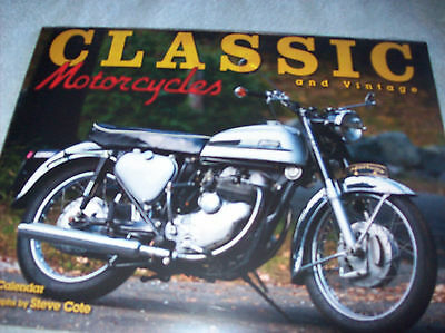 Classic And Vintage Motorcycle Calendar 2017