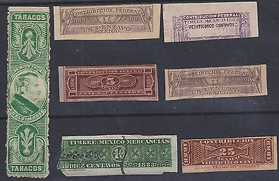 242) Mexico 1888 / 1890  Revenues  - Belasting  -  Very Nice Selection  -