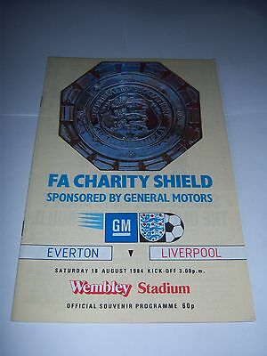 1984 FA CHARITY SHIELD - EVERTON v LIVERPOOL - FOOTBALL PROGRAMME