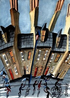 'HERE COMES THE RAIN' ORIGINAL WATERCOLOUR PAINTING BY JOHN ORMSBY, 20x30cm ART