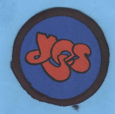 Yes circular logo vintage 1970s sew-on patch RED/BLUE/BLACK