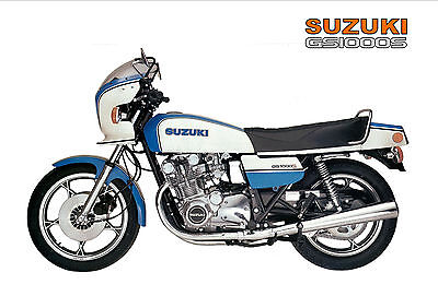 SUZUKI Poster GS1000S GS1000 S 1979 1980 Suitable to Frame