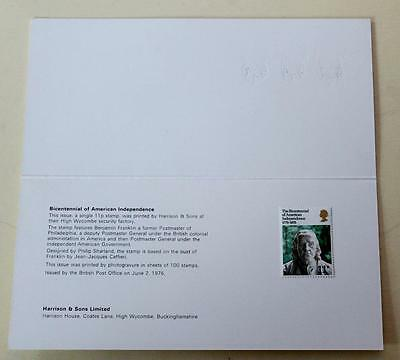 Gb 1976 Usa Bicentenary Harrison Presentation Pack Mint Stamps Sg1005 See #0861