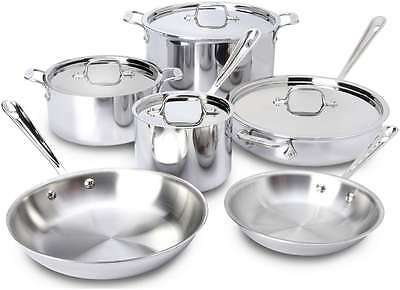 All-Clad Stainless Steel 10 Piece Cookware Set  ***NEW***