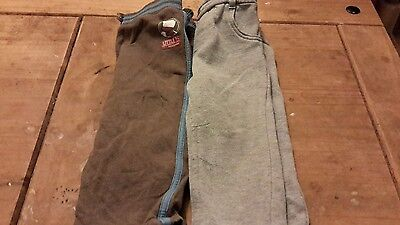 2 pairs tracksuit bottom trousers 12-18 months