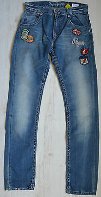 PEPE JEANS LONDON BOYS JEANS ANNO MIT VIELEN PATCHES  REGULAR Gr. 176 / 16 Y