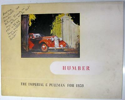 HUMBER Imperial and Pullman Original Car Sales Brochure 1939