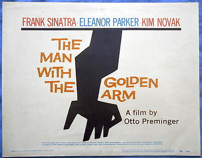 THE MAN WITH THE GOLDEN ARM Saul Bass Art Design Title Lobby Card 1956
