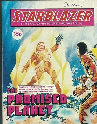 The Promised Planet,starblazer Space Fiction Adventure In Pictures,no.96,comic