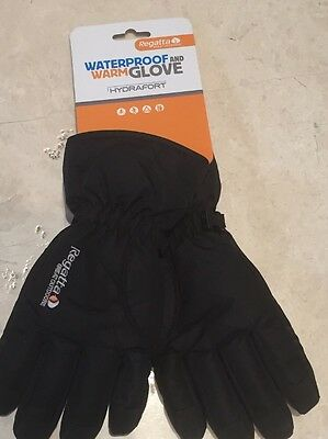 Kids boys winter warm Regatta Elmer waterproof, windproof gloves. 7-10y. BNWT