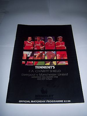 1990 FA CHARITY SHIELD - LIVERPOOL v MANCHESTER UNITED - FOOTBALL PROGRAMME