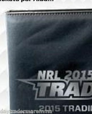 2015 NRL ESP Traders official album plus 30 x 9 pocket TRADERS embossed pages