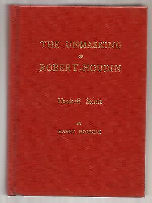 THE UNMASKING OF ROBERT-HOUDIN & HANDCUFF SECRETS by Harry Houdini - Magico