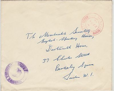 263) IRELAND - EIRE  19 - BELFAST OFFICIAL  COVER to LONDON  - PERFECT