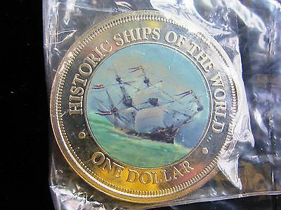 """historic Ships Of The World"" ""the Vasa Ship"" Color Coin Cook Islands"