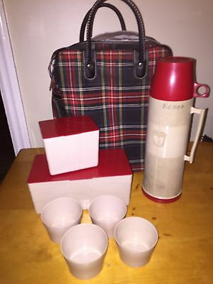 Vintage Thermos Brand Picnic Set