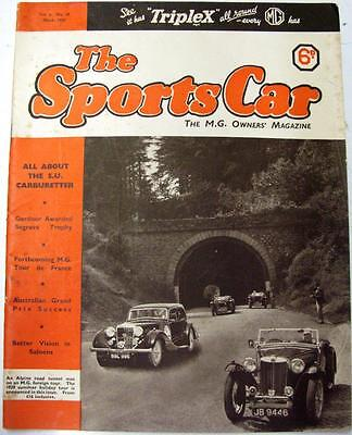 The SPORTS CAR MG Owners MAGAZINE Vol 5 No. 48 Mar 1939
