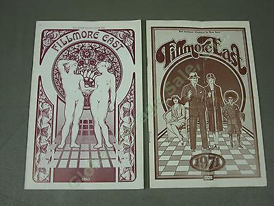 2 Original Frank Zappa 1970 1971 Fillmore East Programs Byrds Black Sabbath ++NR