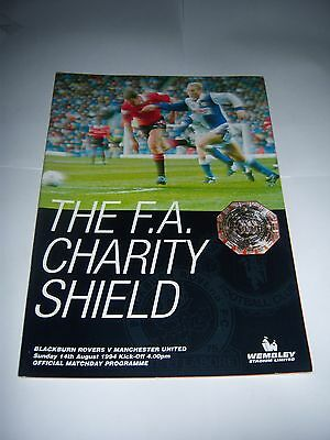 1994 FA CHARITY SHIELD - BLACKBURN ROVERS v MANCHESTER UNITED - PROGRAMME